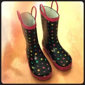 Other - Children's polka dot rain boots